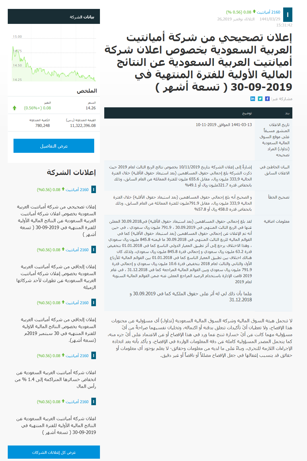 Arabic Announcement